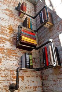 Plumbing-bookshelf