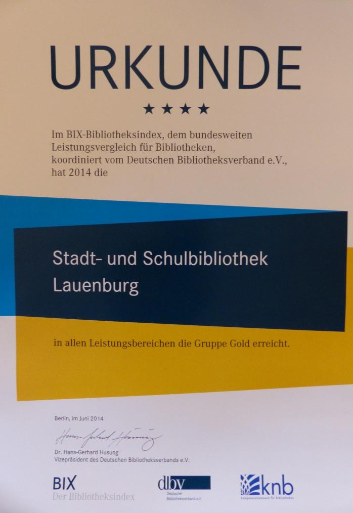 BIX-Urkunde Lauenburg